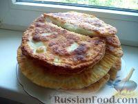 Фото к рецепту: Плацинды с черемшой, творогом и яйцом