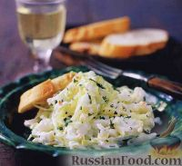 Фото к рецепту: Капустный салат с крабовым мясом
