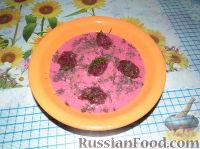 Фото к рецепту: Свекольная ботвинья