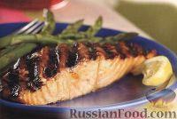 Фото к рецепту: Лосось, жаренный на гриле