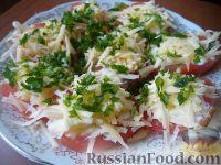 Фото к рецепту: Салат из помидоров с чесноком и сыром