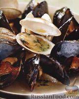 Фото к рецепту: Моллюски с травяным маслом