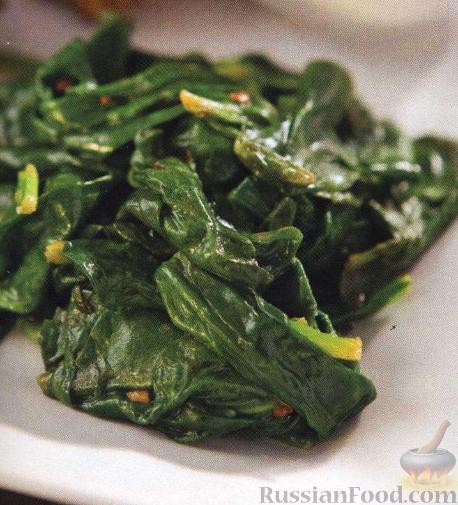 рецепты из шпината свежего рецепты с фото