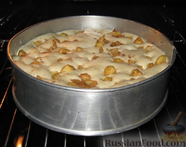 Бисквитная шарлотка с яблоками рецепт пошагово