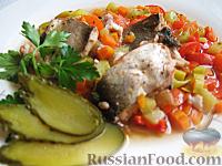 Фото к рецепту: Рыба  с овощами