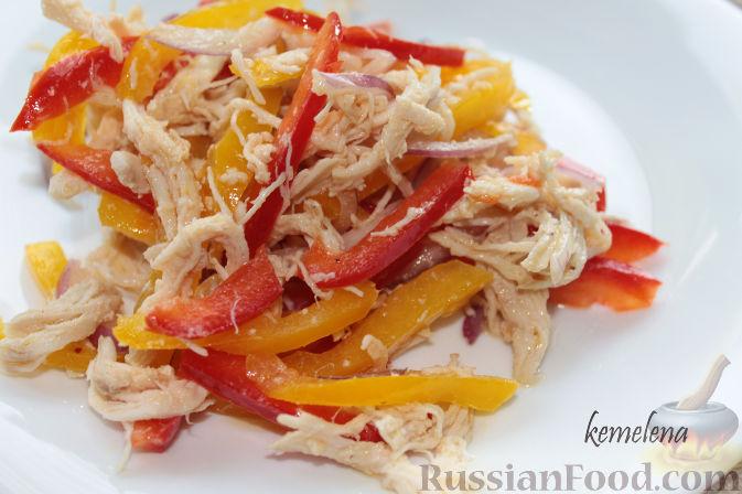 Салат с болгарским перцем простой рецепт
