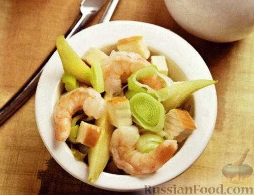 Рецепт Салат с креветками и грушами