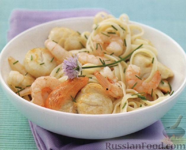 Креветки с гребешками рецепты