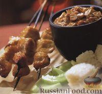Фото к рецепту: Куриные шашлыки с пикантной заправкой