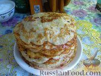 Фото к рецепту: Луковый блинный пирог