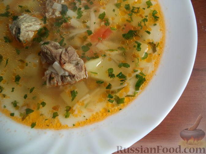 рецепт супа со свининой и макаронами