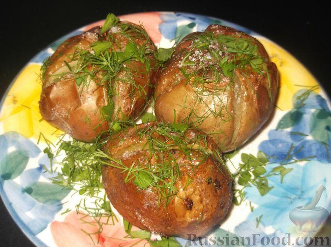 Картошка печеная в духовке в кожуре рецепт пошагово