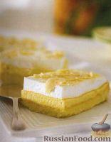 Фото к рецепту: Пирог лимонный трехслойный