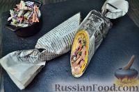 Фото к рецепту: Шаверма (шаурма) в пшеничной тортилье