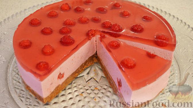 Торт малиновый рецепт пошагово в