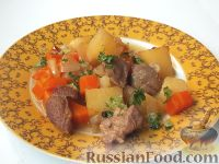 Фото к рецепту: Домашнее жаркое по-украински
