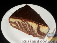 торт зебра с творогом рецепт с фото