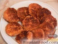 Фото к рецепту: Котлеты с крабовыми палочками