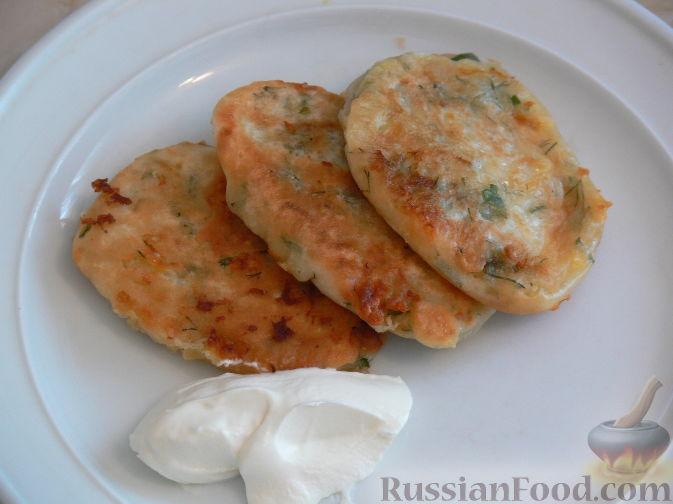 оладьи на кефире с сыром рецепт
