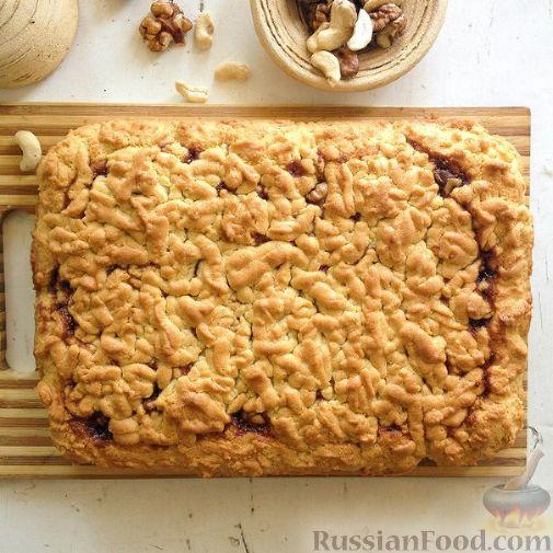 рецепт тертогл песочного пирога с вареньем