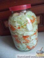 Фото к рецепту: Капуста в быстром маринаде острая