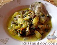 Фото к рецепту: Картофельный суп с вешенками и плавленым сырком