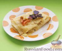 Фото к рецепту: Каннеллони по-милански, с кабачком, сыром и базиликом
