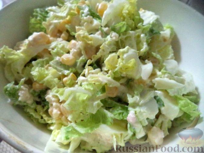 Салат из пекинской капусты. Рецепт с фото 35