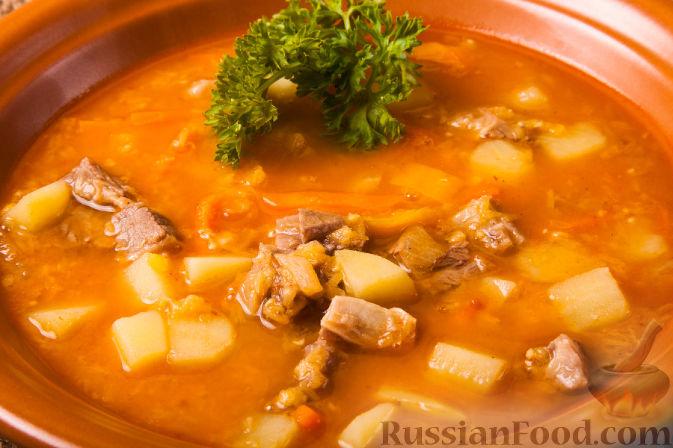 рецепт супа из красной чечевицей на мясном бульоне