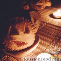 """Фото к рецепту: Печенье на Хэллоуин """"Фонарь Джека"""""""
