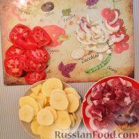 Фото приготовления рецепта: Мясо с картофелем и помидорами - шаг №1