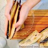 Фото приготовления рецепта: Рулетики из баклажанов - шаг №2