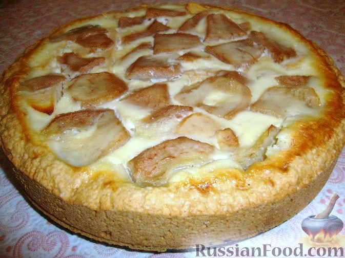 Яблоки под снегом пирог