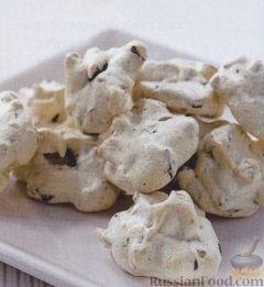 Печенье меренга с орехами 5