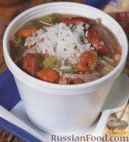 Картофельный суп на бульоне из индоутки с помидорами черри и рожками - рецепт пошаговый с фото