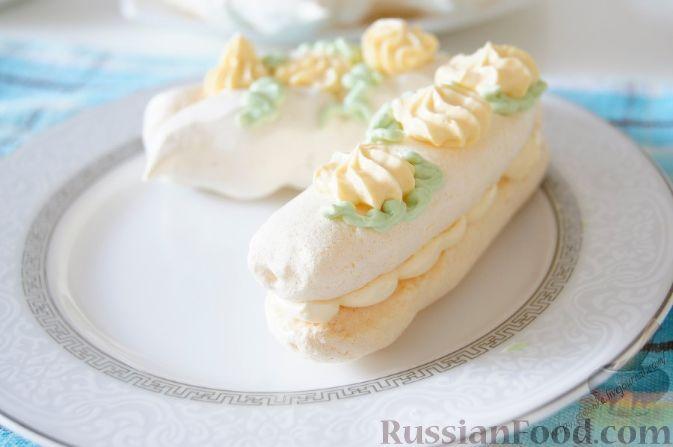 пирожное воздушное с кремом рецепт