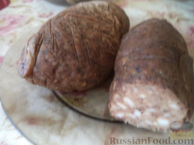 Домашняя печеночная колбаса фото рецепт пошаговый