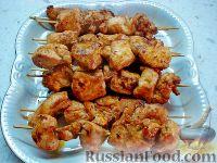 Фото к рецепту: Куриный шашлык на сковороде