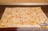 Фото приготовления рецепта: Закуска из лаваша - шаг №4