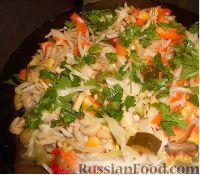 Простой салат из квашеной капусты - рецепт пошаговый с фото