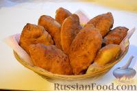Фото к рецепту: Пирожки на кефире (быстрого приготовления)