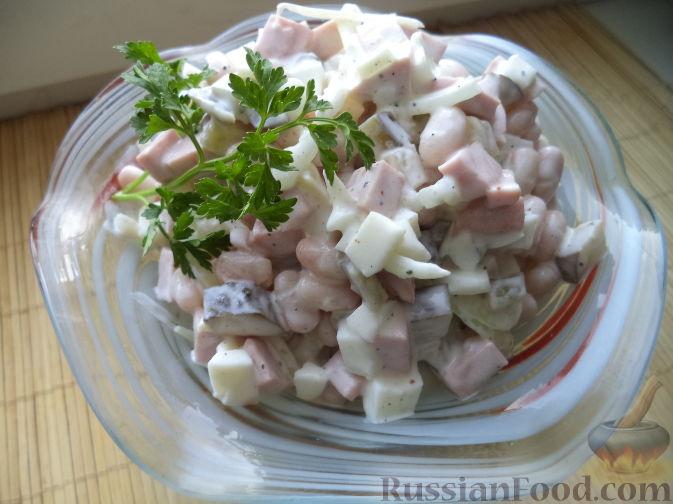 Красная фасоль колбаса салат — photo 3