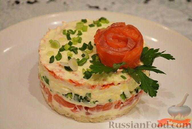 смотреть рецепт салат царский с семгой