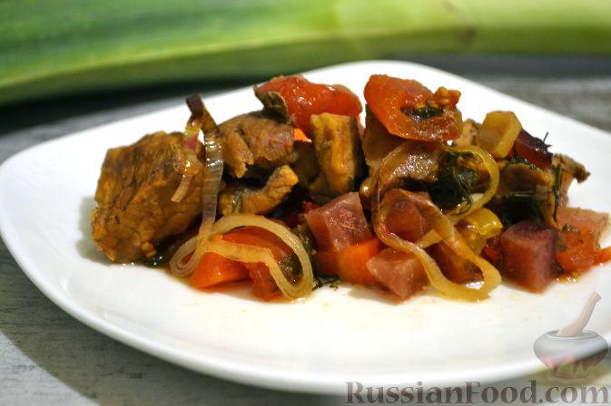 Мясо с овощами, запеченное в духовке рецепт с фото пошаговый