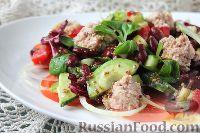 Фото к рецепту: Салат с тунцом