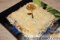 Фото к рецепту: Слоеный салат из свиного языка