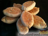 Фото к рецепту: Пирожки с картошкой, яйцом и зеленью
