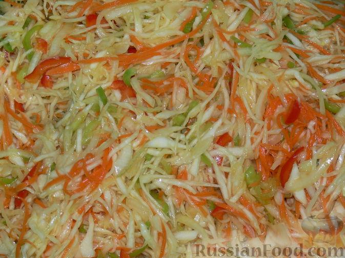 Салат из капусты с маринадом рецепт