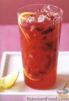 Фото к рецепту: Лимонад с клубникой и соком гуавы