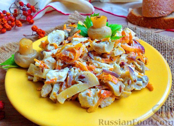 салат обжорка с сыром рецепт с фото